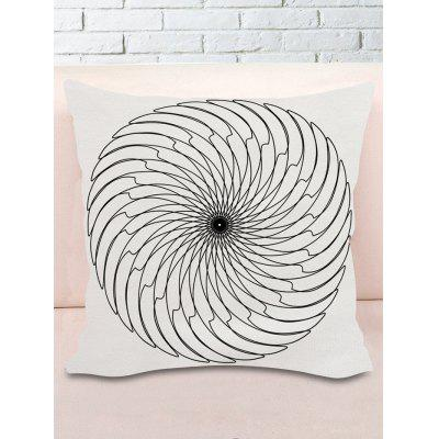 Blade Round Print Decorative Pillowcase