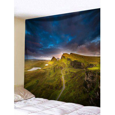 Mountain Path Print Tapestry Wall Hanging Decor