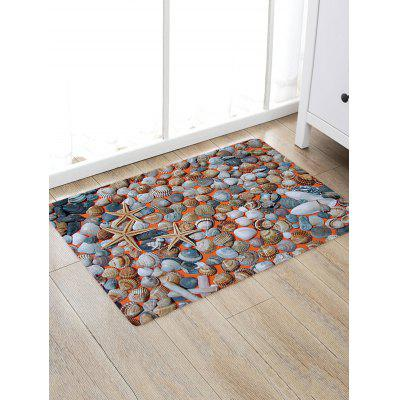 Buy Shells Starfishes Pattern Non-slip Floor Area Rug COLORMIX for $15.81 in GearBest store