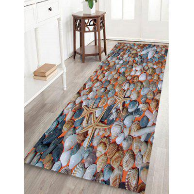 Buy Shells Starfishes Pattern Non-slip Floor Area Rug COLORMIX for $29.69 in GearBest store