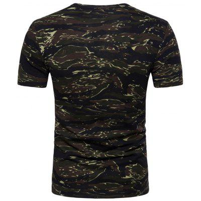 Fitted Camouflage T-shirtMens Short Sleeve Tees<br>Fitted Camouflage T-shirt<br><br>Collar: Crew Neck<br>Material: Cotton, Polyester<br>Package Contents: 1 x T-shirt<br>Pattern Type: Camouflage<br>Sleeve Length: Short<br>Style: Fashion<br>Weight: 0.2200kg