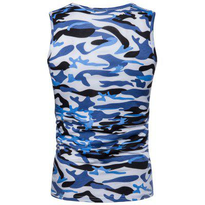 Pocket Camo Cool Tank TopMens Short Sleeve Tees<br>Pocket Camo Cool Tank Top<br><br>Material: Cotton, Polyester<br>Package Contents: 1 x Tank Top<br>Pattern Type: Print<br>Shirt Length: Regular<br>Style: Fashion<br>Weight: 0.2200kg