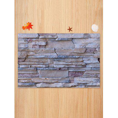 Stone Wall Pattern Non-slip Floor Area RugBlankets &amp; Throws<br>Stone Wall Pattern Non-slip Floor Area Rug<br><br>Materials: Coral FLeece<br>Package Contents: 1 x Rug<br>Pattern: Wall<br>Products Type: Bath rugs<br>Shape: Rectangle<br>Style: Trendy