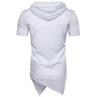 Short Sleeve Longline Asymmetrical Hooded T-shirtMens Short Sleeve Tees<br>Short Sleeve Longline Asymmetrical Hooded T-shirt<br><br>Collar: Hooded<br>Material: Cotton<br>Package Contents: 1 x T-shirt<br>Pattern Type: Solid<br>Sleeve Length: Short<br>Style: Casual<br>Weight: 0.2600kg
