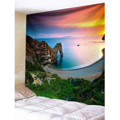 Mountain Beach Print Tapestry Wall Hanging Decor