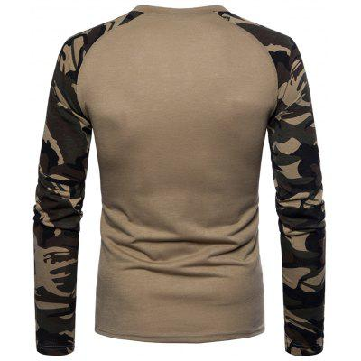 Color Block Camouflage T-shirtMens Long Sleeves Tees<br>Color Block Camouflage T-shirt<br><br>Collar: Crew Neck<br>Material: Cotton, Polyester<br>Package Contents: 1 x T-shirt<br>Pattern Type: Color Block<br>Season: Spring<br>Sleeve Length: Full<br>Style: Casual, Streetwear, Fashion<br>Weight: 0.3100kg