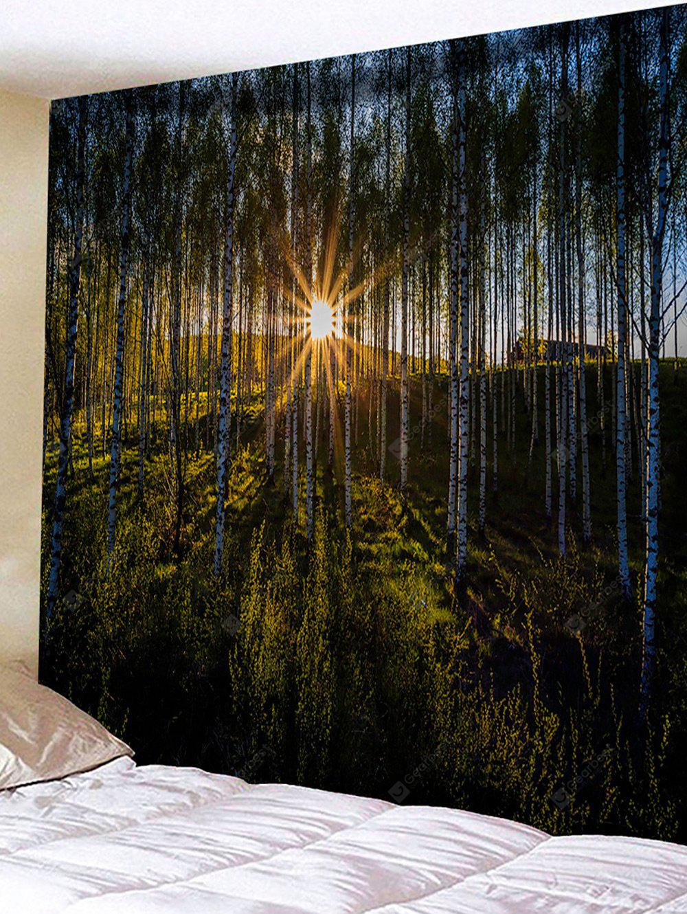 Sun Forest Print Tapestry Wall Hanging Decor