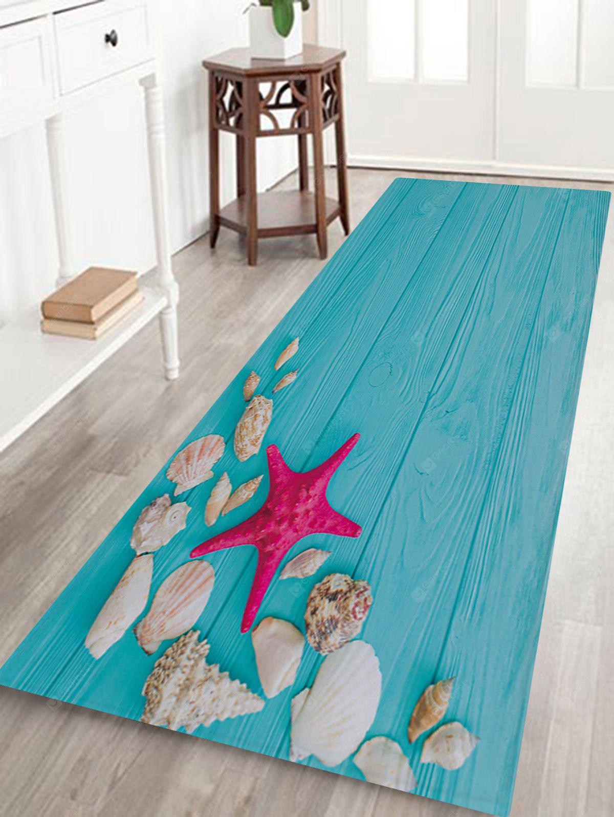 Starfish Shell Pattern Non-slip Floor Area Rug