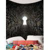 Grot Printed Wall Hanging Tapestry - BLACK