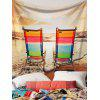 Seaside Deck Chair Printed Wall Art Tapestry - COLORFUL