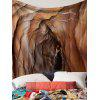Lava Cave Printed Waterproof Wall Tapestry - BROWN