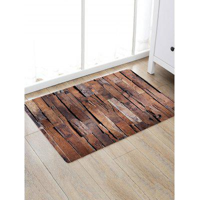 Retro Wood Grain Print Area Rug