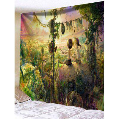 Buy Rurality Print Tapestry Wall Hanging Decor COLORMIX for $15.21 in GearBest store