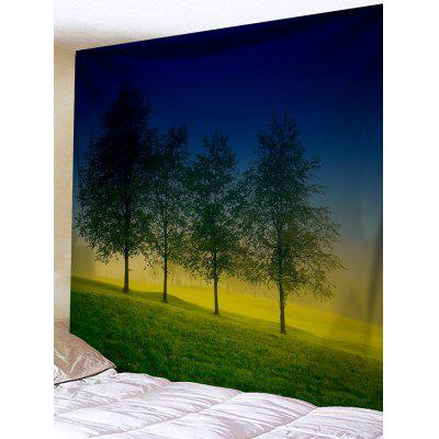 Four Trees Print Tapestry Wall Hanging Decor