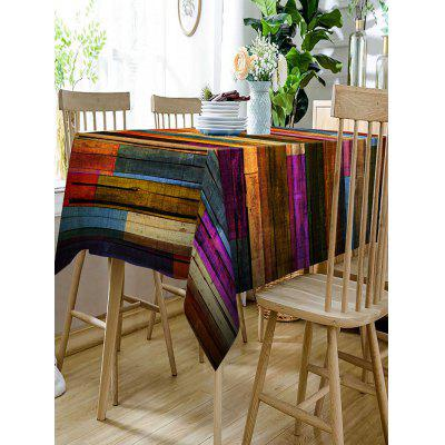 Colorful Wood Grain Print Waterproof Table ClothTable Accessories<br>Colorful Wood Grain Print Waterproof Table Cloth<br><br>Material: Polyester<br>Package Contents: 1 x Table Cloth<br>Pattern Type: Wood Grain<br>Type: Table Cloth<br>Weight: 0.5000kg