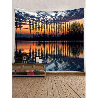 Sunset Glow Trees Shadow Print Wall Hanging TapestryBlankets &amp; Throws<br>Sunset Glow Trees Shadow Print Wall Hanging Tapestry<br><br>Feature: Removable, Washable<br>Material: Polyester<br>Package Contents: 1 x Tapestry<br>Shape/Pattern: Tree<br>Style: Natural<br>Theme: Landscape<br>Weight: 0.3000kg