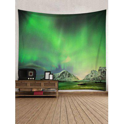 Northern Lights Mountain Print Tapestry Wall Hanging DecorBlankets &amp; Throws<br>Northern Lights Mountain Print Tapestry Wall Hanging Decor<br><br>Feature: Removable, Washable<br>Material: Polyester<br>Package Contents: 1 x Tapestry<br>Shape/Pattern: Mountain<br>Style: Natural<br>Theme: Landscape<br>Weight: 0.3000kg