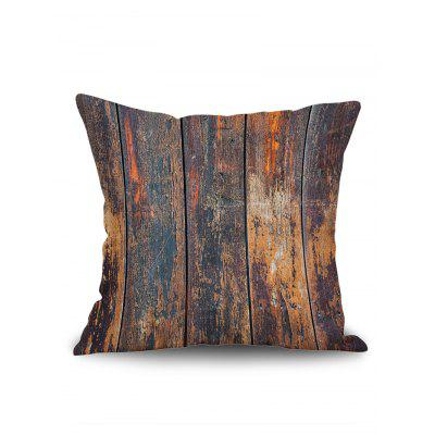 Old Wood Grain Print Square Pillow Case