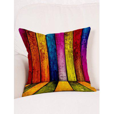 Colorful Wood Board Print Decorative Linen PillowcasePillow<br>Colorful Wood Board Print Decorative Linen Pillowcase<br><br>Material: Linen<br>Package Contents: 1 x Pillowcase<br>Pattern: Wood Grain<br>Shape: Square<br>Style: Trendy<br>Weight: 0.0900kg