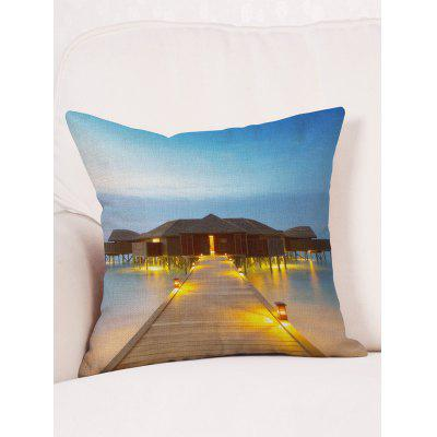 Wood Bridge House Sea Print Decorative Pillow CoverPillow<br>Wood Bridge House Sea Print Decorative Pillow Cover<br><br>Material: Linen<br>Package Contents: 1 x Pillowcase<br>Pattern: Other<br>Shape: Square<br>Style: Trendy<br>Weight: 0.0900kg