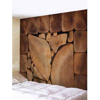 Tree Wood Print Tapestry Wall Hanging Decor