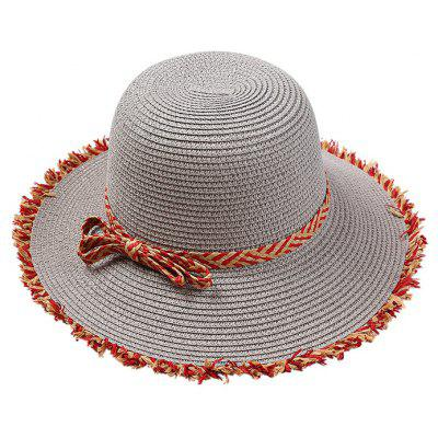 Vintage Bowknot Straw Hat