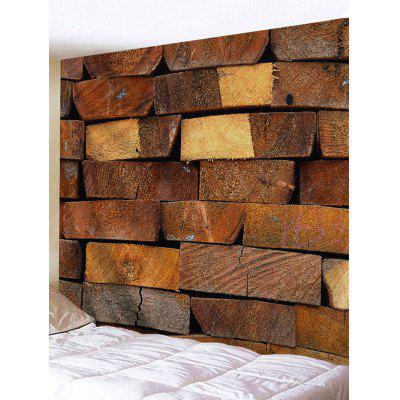 Pile Up Wooden Wall Print Tapestry