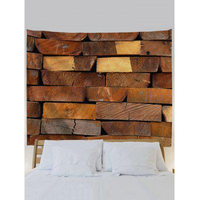 Pile Up Wooden Wall Print TapestryBlankets &amp; Throws<br>Pile Up Wooden Wall Print Tapestry<br><br>Material: Polyester<br>Package Contents: 1 x Tapestry<br>Shape/Pattern: Wood<br>Style: Natural<br>Weight: 0.1900kg