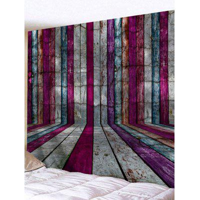 Colorful Wood Planks Print Tapestry