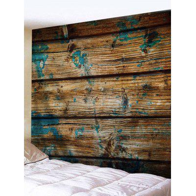 Blue Ink On Planks Print Tapestry