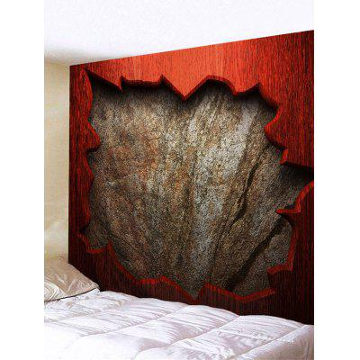 Red Wood Bricks Wall Print Tapestry