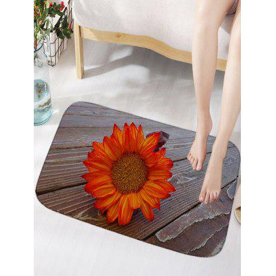 Flower Wood Flooring Print Indoor Outdoor Area Rug