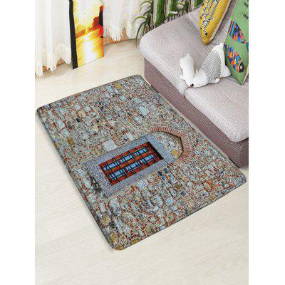 Vintage Stone Wall Window Print Floor RugBlankets &amp; Throws<br>Vintage Stone Wall Window Print Floor Rug<br><br>Materials: Flannel<br>Package Contents: 1 x Rug<br>Pattern: Window<br>Products Type: Bath rugs<br>Shape: Rectangular<br>Style: Vintage