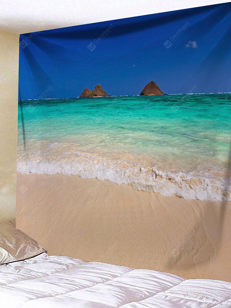 Beach Sea Wave Print Tapestry Wall Hanging Decor