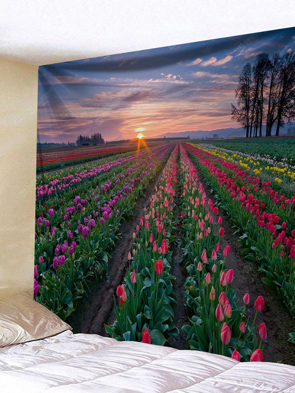 Flower Sea Sunrise Print Wall Hanging Tapestry