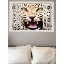 Angry Leopard Printed Wall Sticker