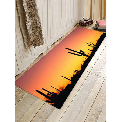 Sunset Cactus Print Indoor Outdoor Area Rug sunset overdrive