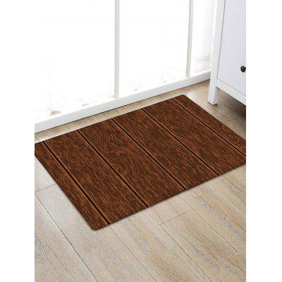 Wood Grain Print Non-slip Water Absorption Area Rug