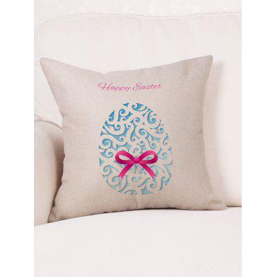 Easter Egg Knot Pillow CasePillow<br>Easter Egg Knot Pillow Case<br><br>Material: Linen<br>Package Contents: 1 x Pillow Case<br>Pattern: Gift<br>Shape: Square<br>Style: Halloween<br>Weight: 0.0900kg