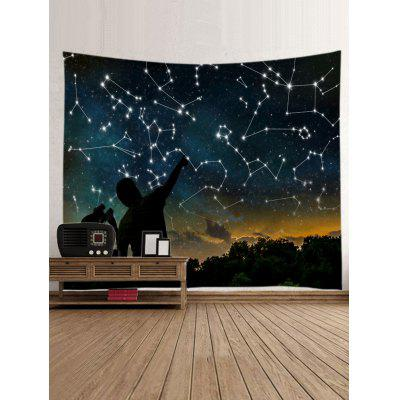 Night Sky Stars Constellations Print TapestryBlankets &amp; Throws<br>Night Sky Stars Constellations Print Tapestry<br><br>Feature: Washable, Waterproof<br>Material: Polyester<br>Package Contents: 1 x Tapestry<br>Shape/Pattern: Star<br>Style: Natural<br>Weight: 0.3000kg