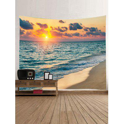 Sunset Sea Beach Print TapestryBlankets &amp; Throws<br>Sunset Sea Beach Print Tapestry<br><br>Feature: Washable, Waterproof<br>Material: Polyester<br>Package Contents: 1 x Tapestry<br>Shape/Pattern: Print<br>Style: Natural<br>Theme: Beach Theme<br>Weight: 0.3000kg