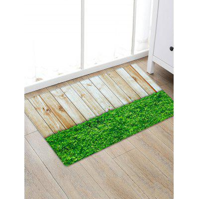 Wood Board Lawn Pattern Indoor Outdoor Area Rug