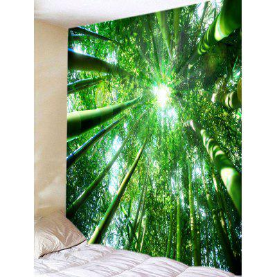 Forest Bamboos Sunlight Print Tapestry