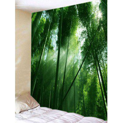 Sunlight Through the Bamboo Forest Print Tapestry