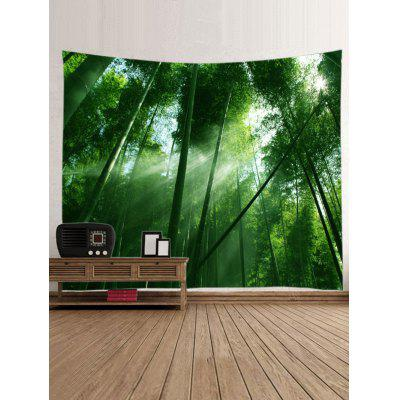Sunlight Through the Bamboo Forest Print TapestryBlankets &amp; Throws<br>Sunlight Through the Bamboo Forest Print Tapestry<br><br>Feature: Washable, Waterproof<br>Material: Polyester<br>Package Contents: 1 x Tapestry<br>Shape/Pattern: Forest<br>Style: Natural<br>Weight: 0.3000kg