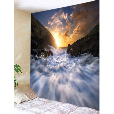 Rapid Stream Sunrise Print Wall Hanging Tapestry