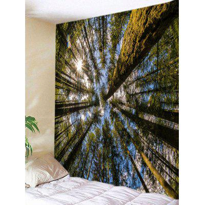 Sunshine Forest Sky Print Tapestry Wall Hanging Decor