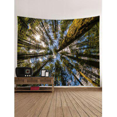 Sunshine Forest Sky Print Tapestry Wall Hanging DecorBlankets &amp; Throws<br>Sunshine Forest Sky Print Tapestry Wall Hanging Decor<br><br>Feature: Washable<br>Material: Polyester<br>Package Contents: 1 x Tapestry<br>Shape/Pattern: Forest<br>Style: Natural<br>Weight: 0.3000kg