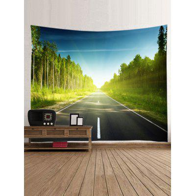 Sun Ray Trees Road Print Wall Art TapestryBlankets &amp; Throws<br>Sun Ray Trees Road Print Wall Art Tapestry<br><br>Feature: Washable<br>Material: Polyester<br>Package Contents: 1 x Tapestry<br>Shape/Pattern: Forest<br>Style: Natural<br>Weight: 0.3000kg