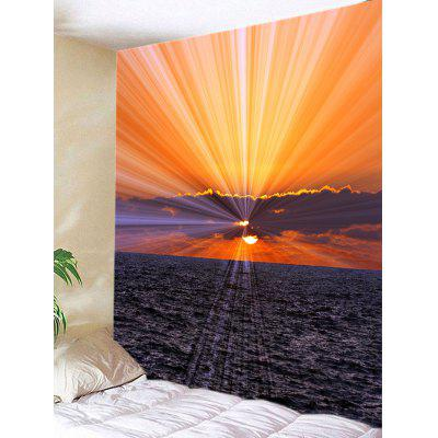 Sunrise Over The Sea Print Tapestry Wall Hanging Art